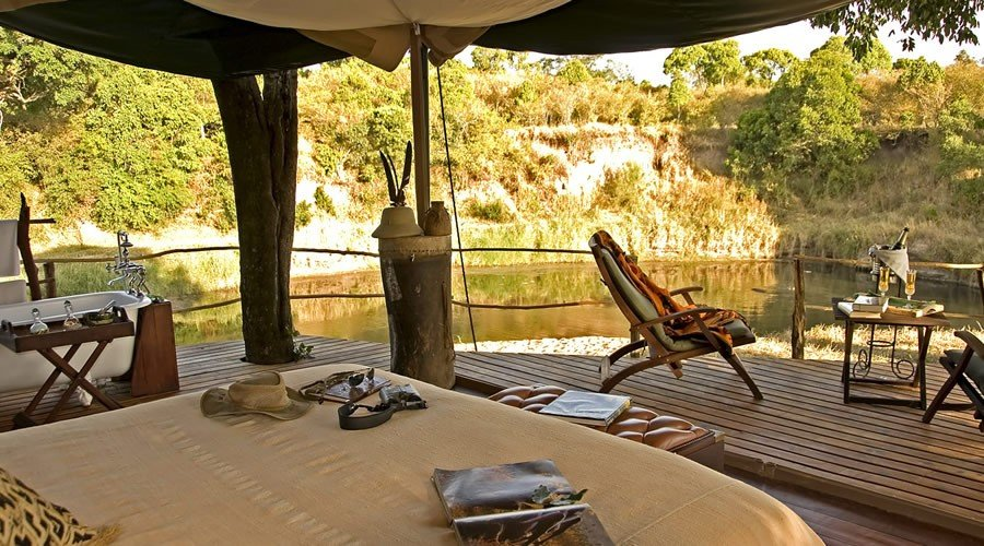 mara-explorer-interior-with-river-view - Kenya and Mauritius Honeymoon Holiday Package