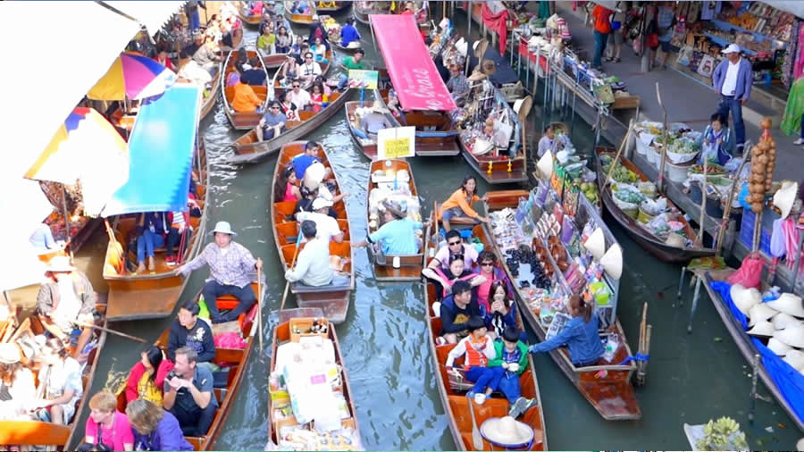 Damnoen-Saduak-Floating-Market - 5 Nights Bangkok and Pattaya Combo